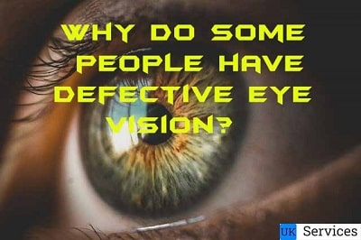 Why do some people have defective eye vision?